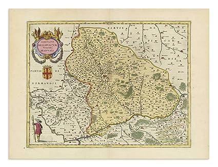 Saint Denis France Map.Amazon Com The Blaeu Prints Oise Hauts De France Historical