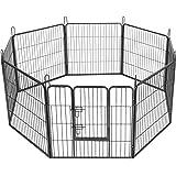Amazonbasics gabbia in metallo richiudibile per cani for Recinto per cani amazon