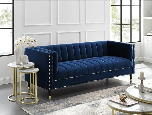 Nicole Miller Velvet Sofa