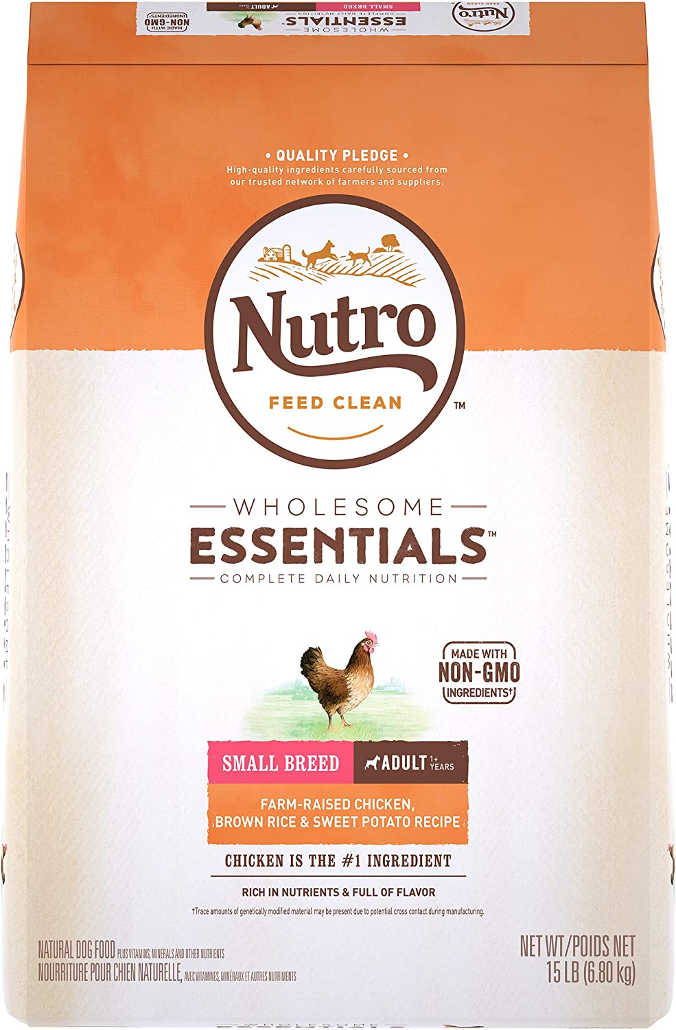 Nutro — Small Breed Formula with Adult Farm-Raised Chicken
