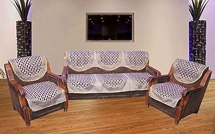 Buy Hargunz 6 Piece Polycotton 5 Seater Sofa Cover Set Multicolour