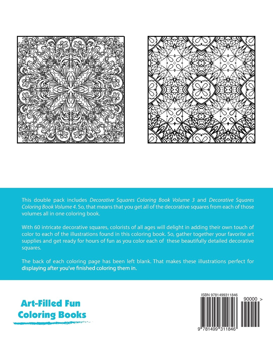 Decorative Squares Coloring Book Double Pack (Volumes 3 & 4) (Art ...