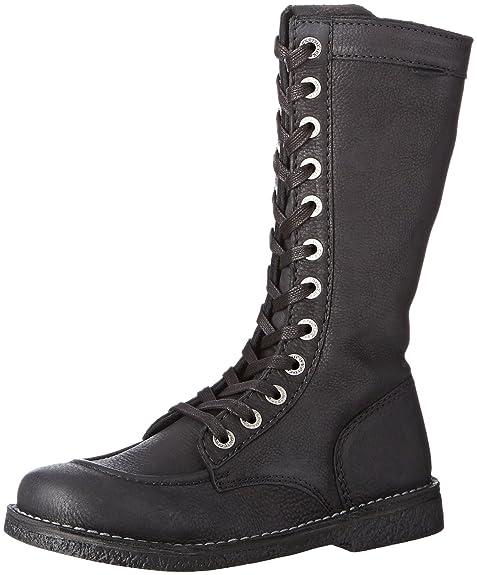 Kickers MEETKIKNEW - botas con forro cálido de caña media y botines Mujer, Negro -