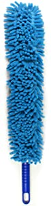 Jet Clean Chenille Microfiber Flat Hand Duster-Dust Appliances, Ceiling Fans, Blinds, Furniture, Shutters, Cars, Delicate Surfaces-Chenille