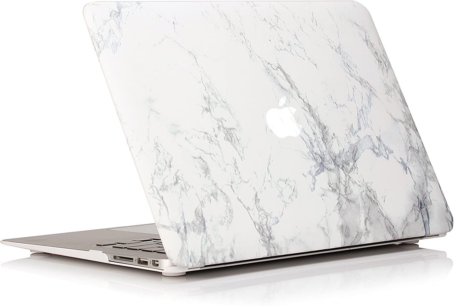 Ruban MacBook Air 13 Inch Case - Fits Previous Generations A1466 / A1369 (Will Not Fit 2018 MacBook Air 13 with Touch ID), Slim Snap On Hard Shell Protective Cover,White Marble