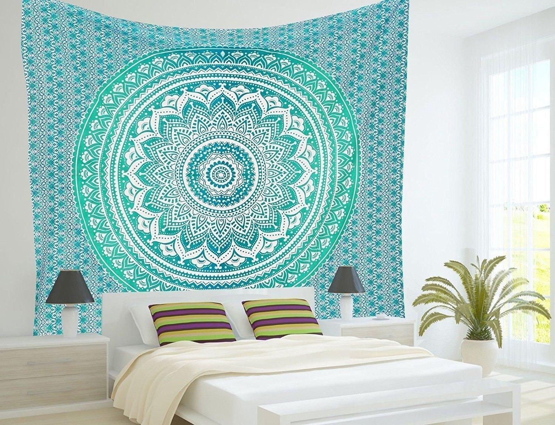 Amazoncom Madhu International Ombre Mandala Tapestries