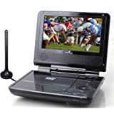 "Envizen Digital ED8850B Duo Box II 7"" Portable DVD & TV Player with ATSC TV"