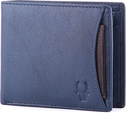 WildHorn Blue Leather Men s Wallet  Amazon.in  Bags 7d8906110