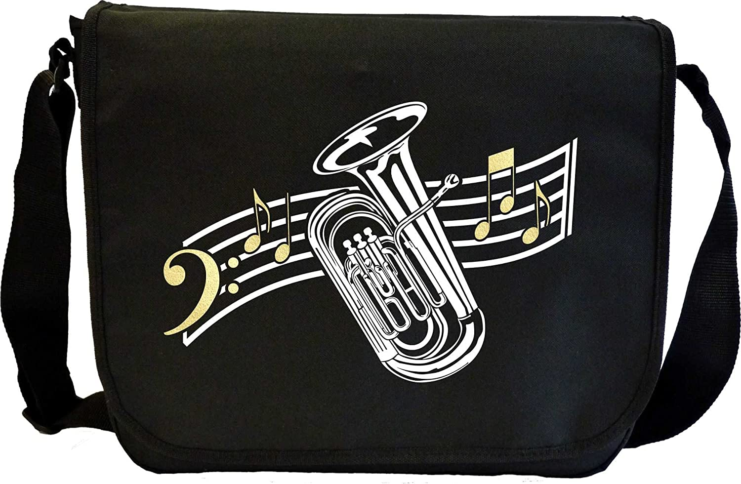 Tuba Curved Stave - Sheet Music Document Bag Sacoche de Musique MusicaliTee Tuba4_53_Stave_Bag_MG