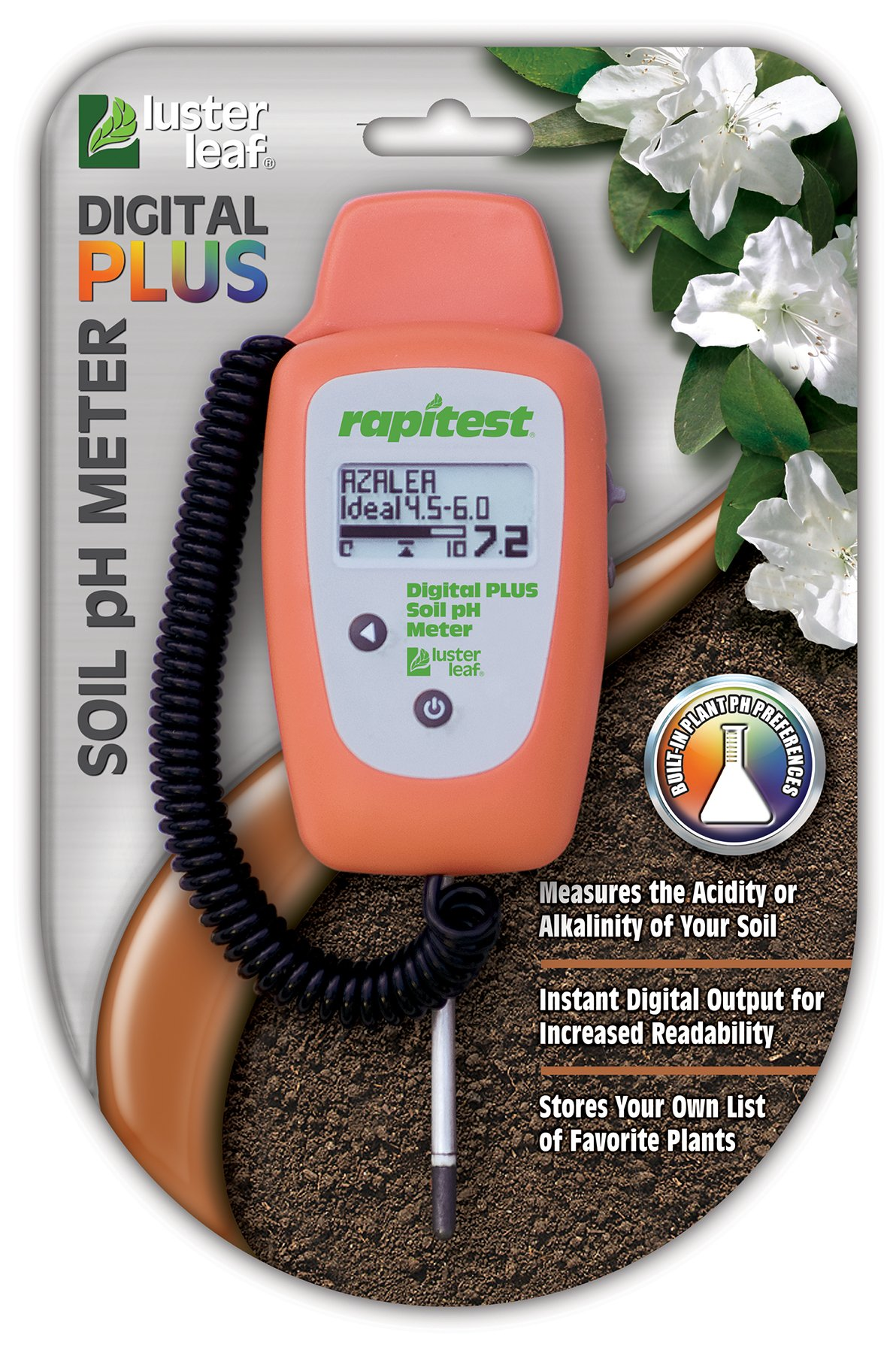 Luster Leaf 1847 Rapitest Digital Plus Soil pH Meter