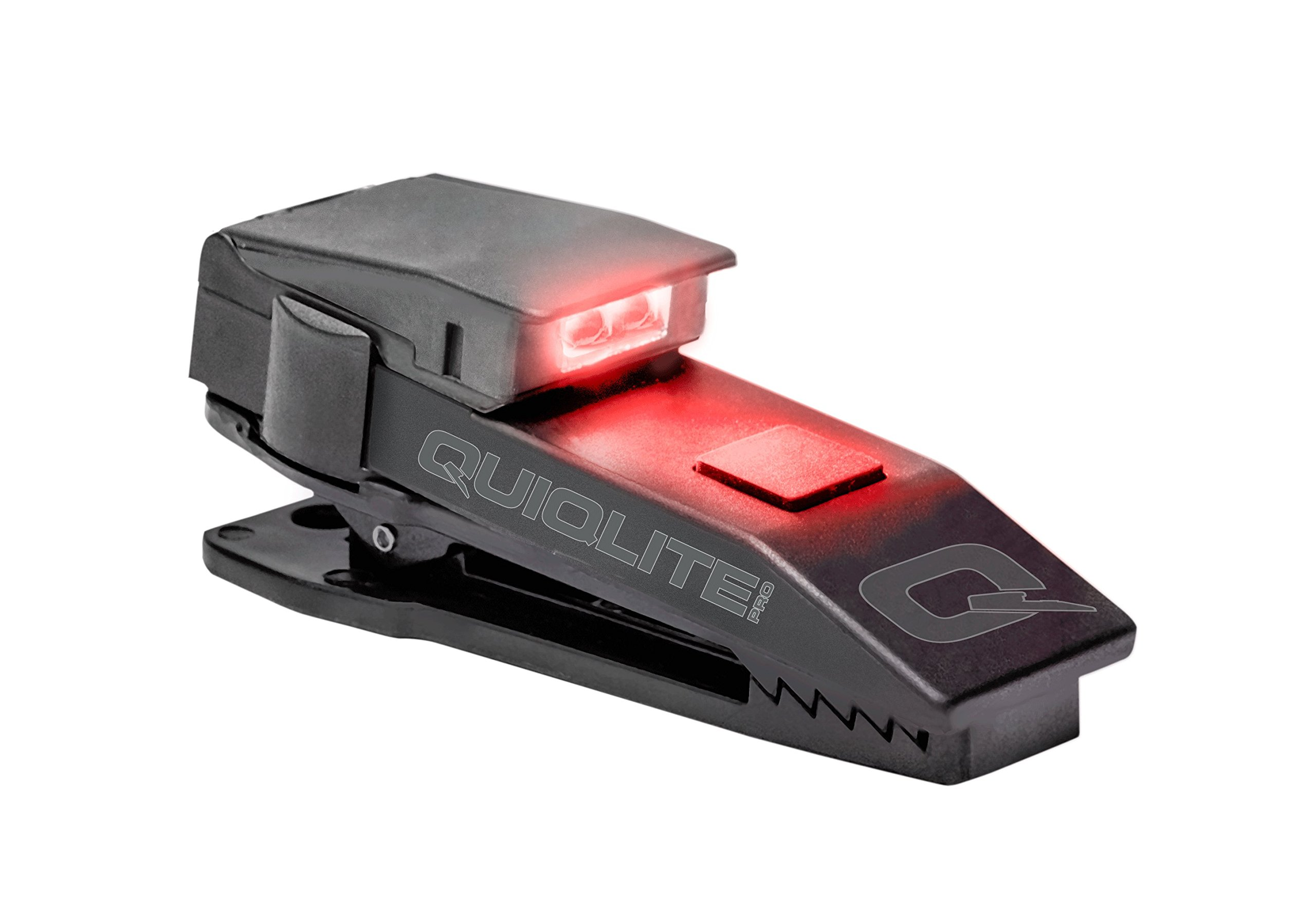 QuiqLitePro Hands Free Pocket Concealable Flashlight / White/Red LED's, 10 Lumens
