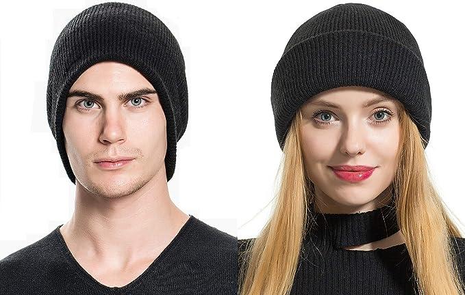 3b60f2c984a Elzama Wool - Merino Wool Feel Beanie Hat Winter Unisex Men Women ...