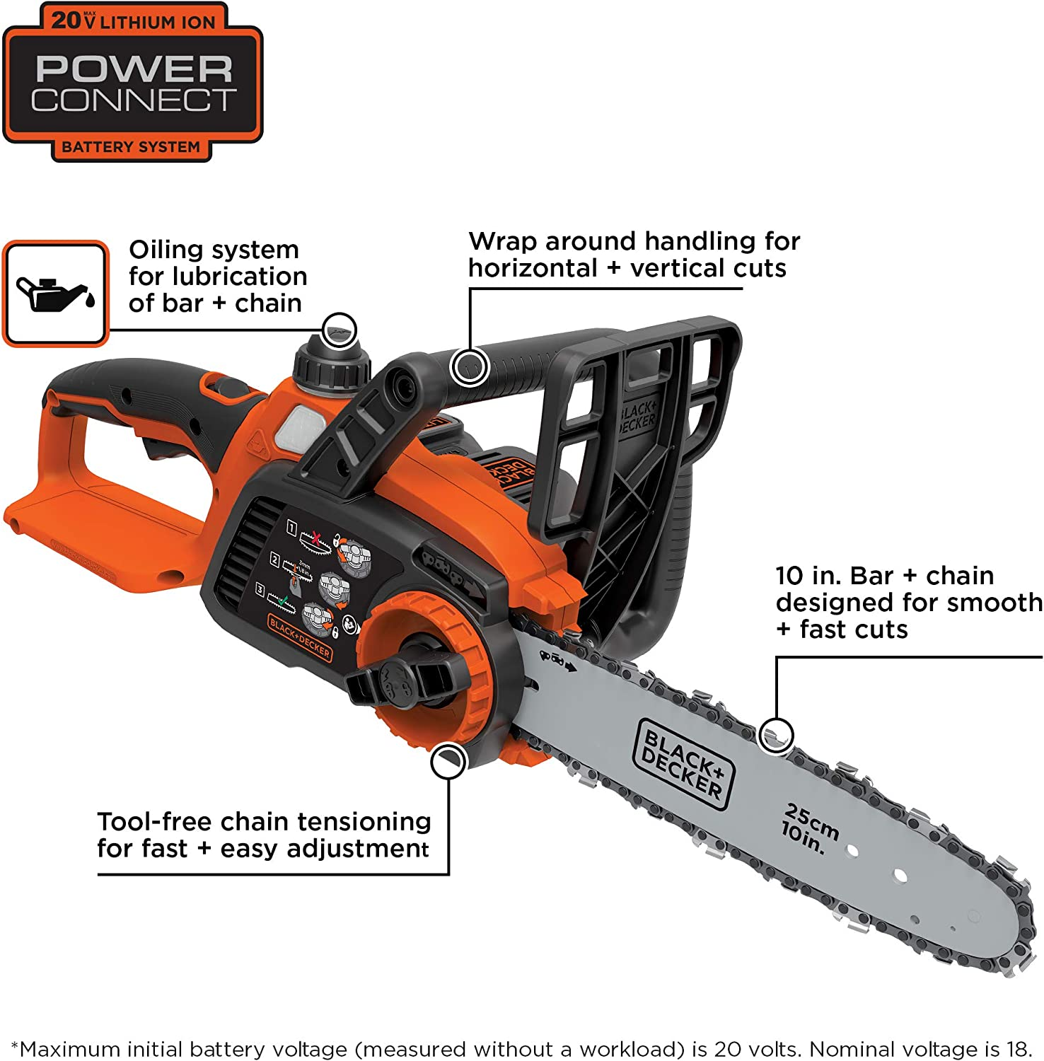 BLACK+DECKER LCS1020 Chainsaws product image 2