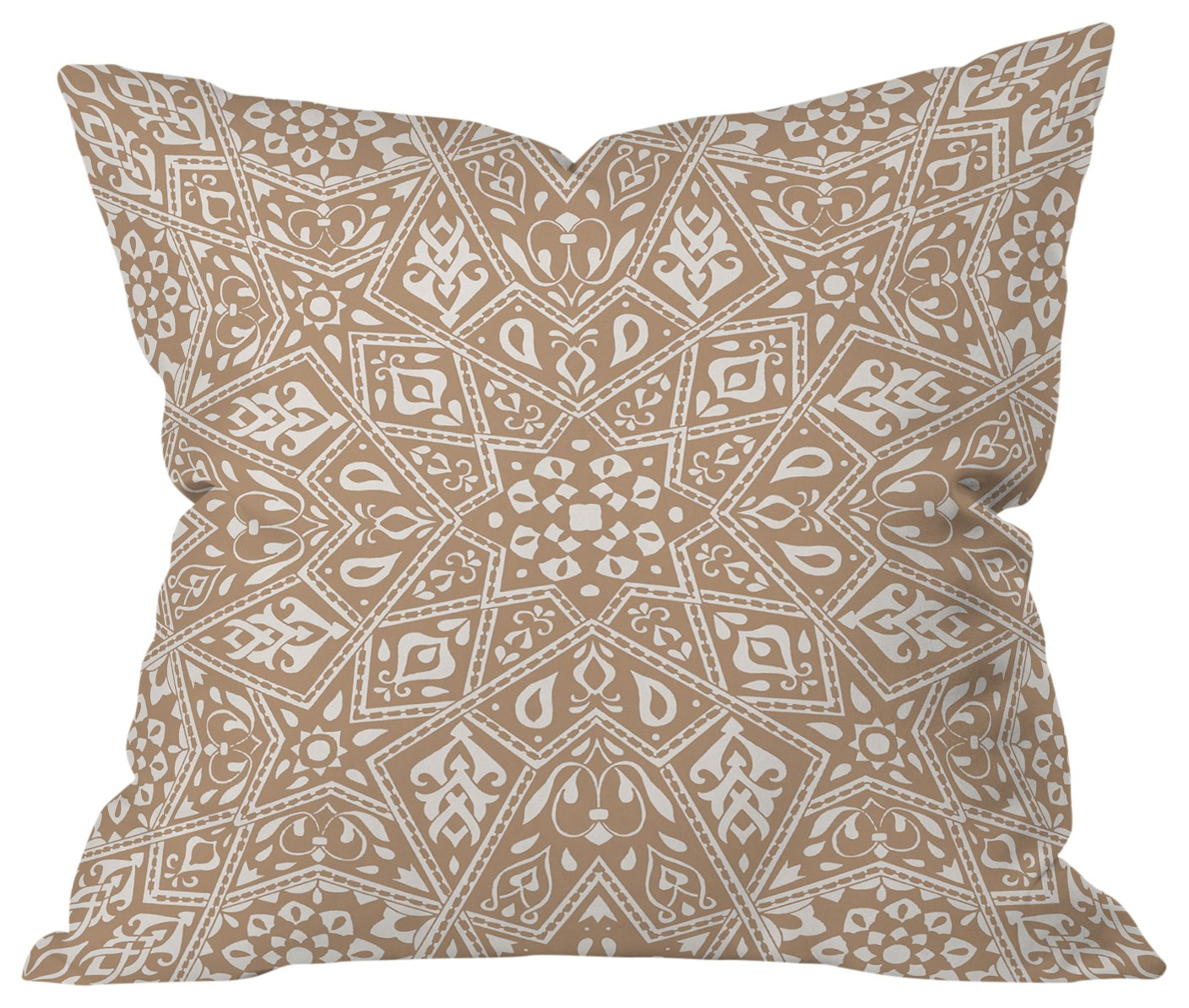 Deny Designs Aimee St Hill Ogee Orange Outdoor Throw Pillow 20 x 20