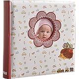 Libro de recuerdos de bebé Arpan. Álbum de fotos con 200 bolsillos para fotos de 15cm x 10cm; regalo ideal para niños y niñas con bolsillo para CD o DVD