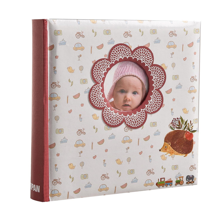 Arpan Slip in memo Avec fenêtre Souvenirs de bébé unisex 200 photo pour 6x4 / 15x10cm photo album AL-9766