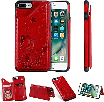 Custodia Iphone 8 Protezione Supporto Rosso Cover Iphone 8