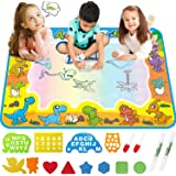 FREE TO FLY Kids ToysWater Doodle Mat:ToddlerAges Coloring Art Supplies - Dinosaur Learning Toy for Painting and Drawing -