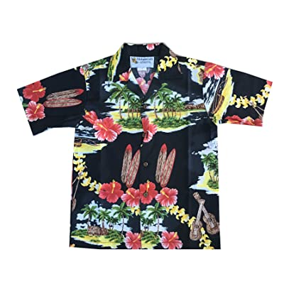 Alohawears Clothing Company Boy's Island Treasure Christmas Cruise Luau Hawaiian Shirt