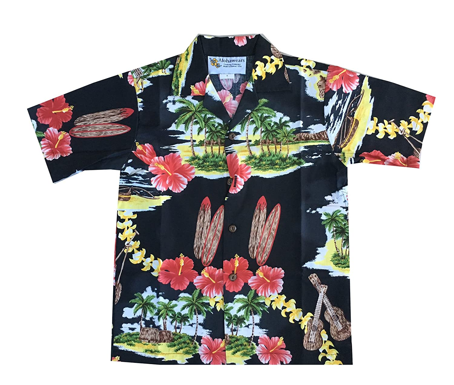 Alohawears Clothing Company Boys Island Treasure Christmas Cruise Luau Hawaiian Shirt