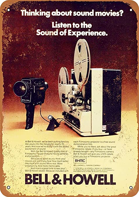 HALEY GAINES Bell & Howell Sound Movies Placa Cartel Póster ...