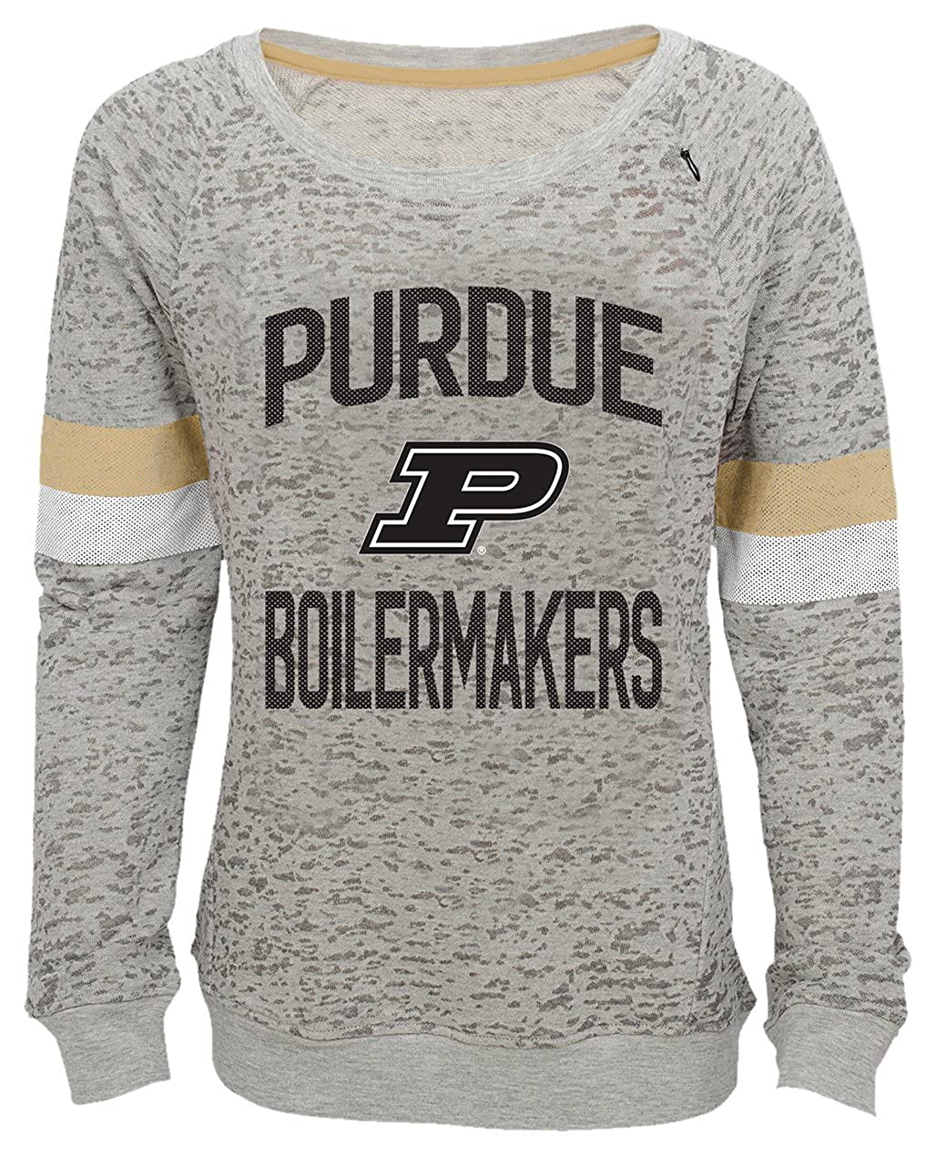 Youth X-Large Heather Grey 16 NCAA by Outerstuff NCAA Purdue Boilermakers Youth Girls My City Boat Neck Pullover