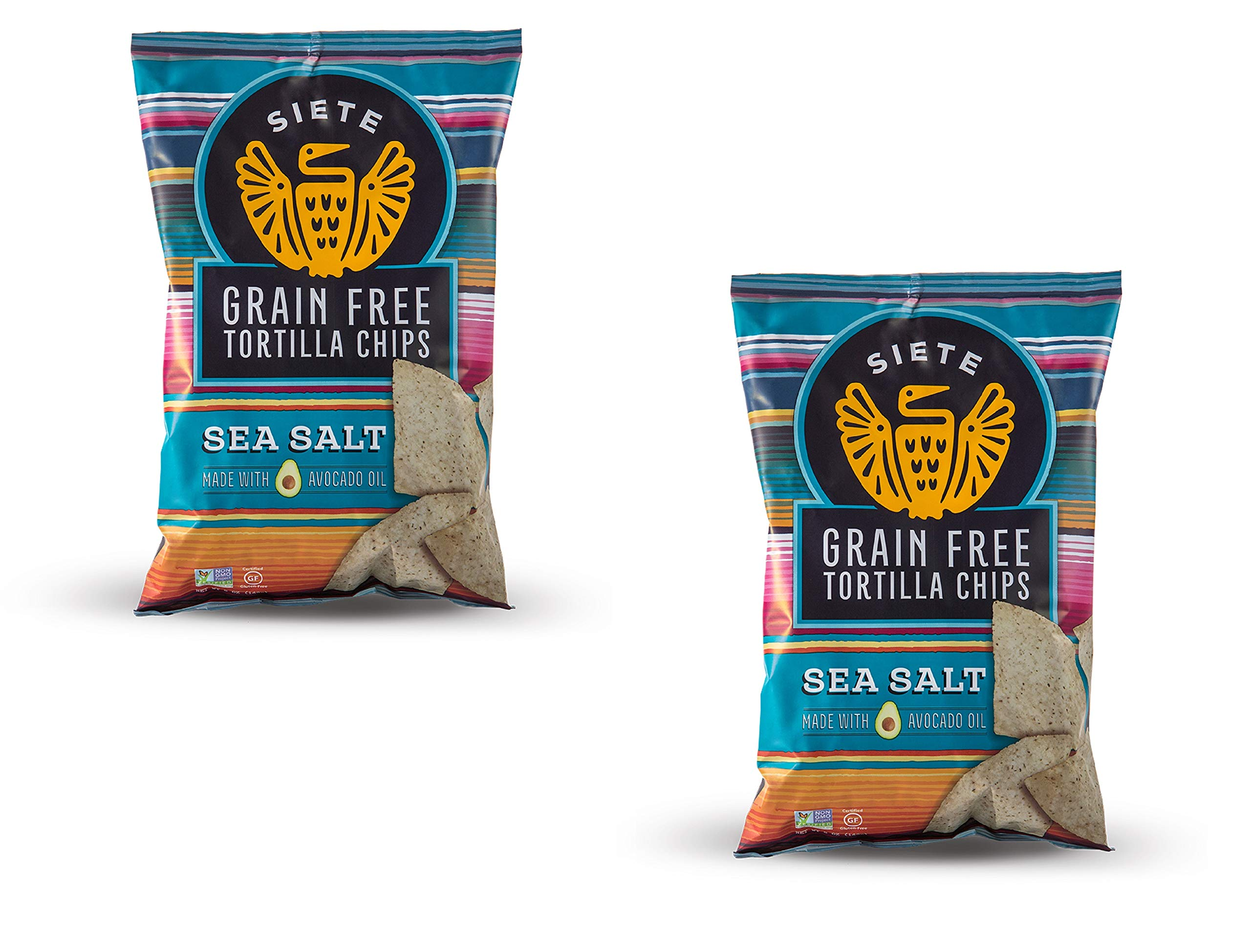 Siete Sea Salt Grain Free Tortilla Chips, 5 oz bags, 2-Pack by Siete