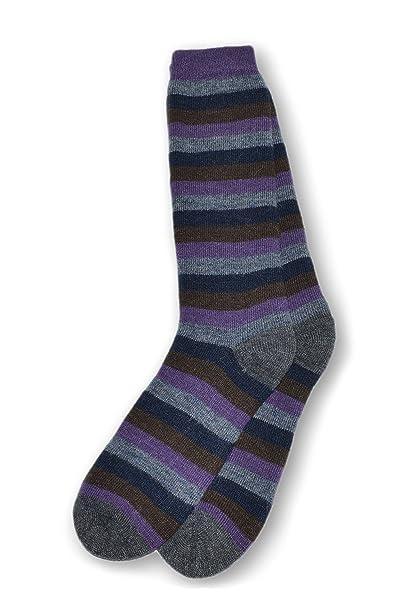 Calcetines de Mujer de Rayas de Mezcla de Alpaca para Botas o Deporte -Azules: Amazon.es: Ropa y accesorios