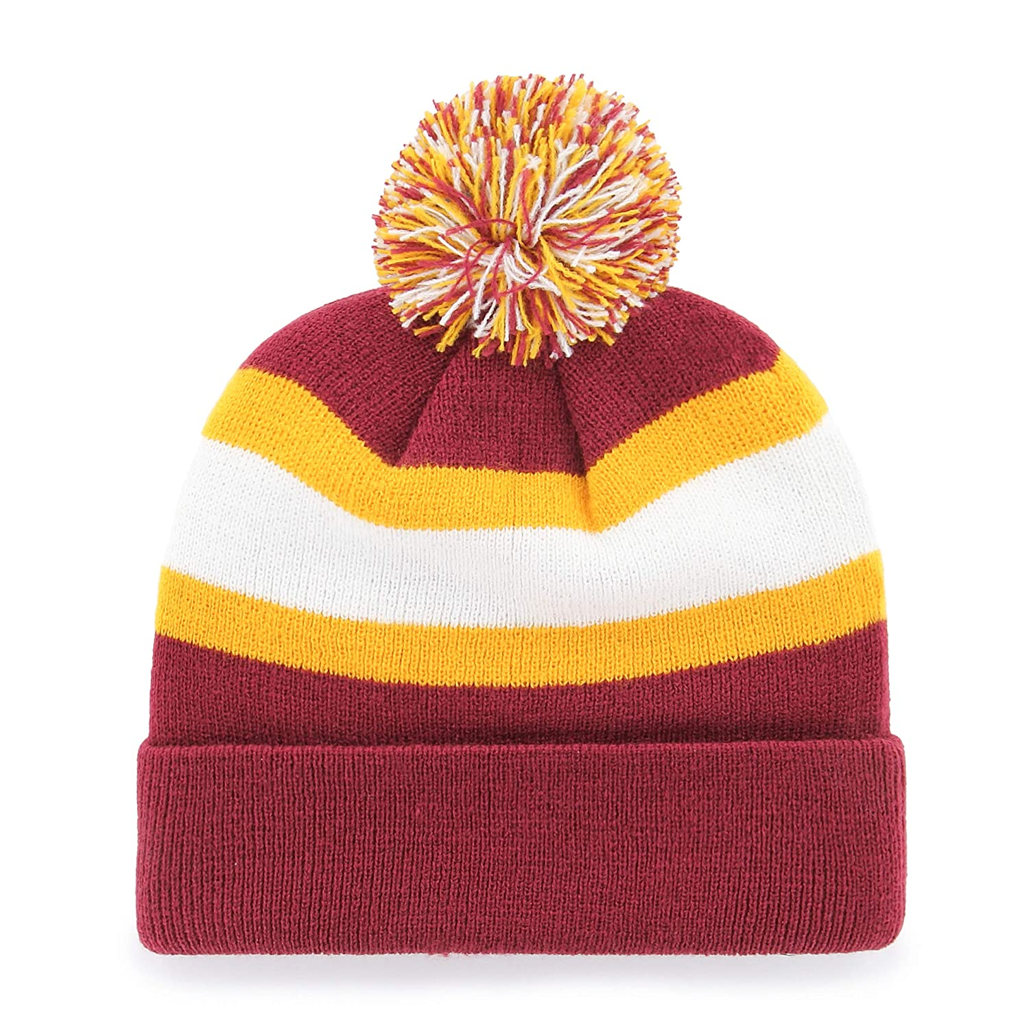 8c709baf3949d OTS NFL Unisex-Adult Rush Down Cuff Knit Cap with Pom Dark Red One Size  larger image
