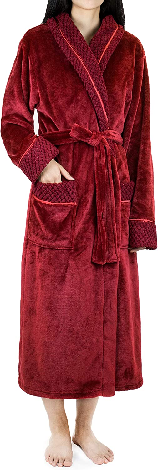 Women Fleece Robe With...