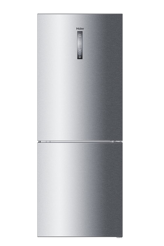 Haier C3FE844CGJ Kühl- Gefrierkombination/A+++ / 190, 5cm Höhe / 70 cm Breite/ 214 kWh/Jahr / 314 L Kühlteil / 136 L Gefrierteil/Inverter Kompressor/Silber / LED-Beleuchtung [Energieklasse A+++]