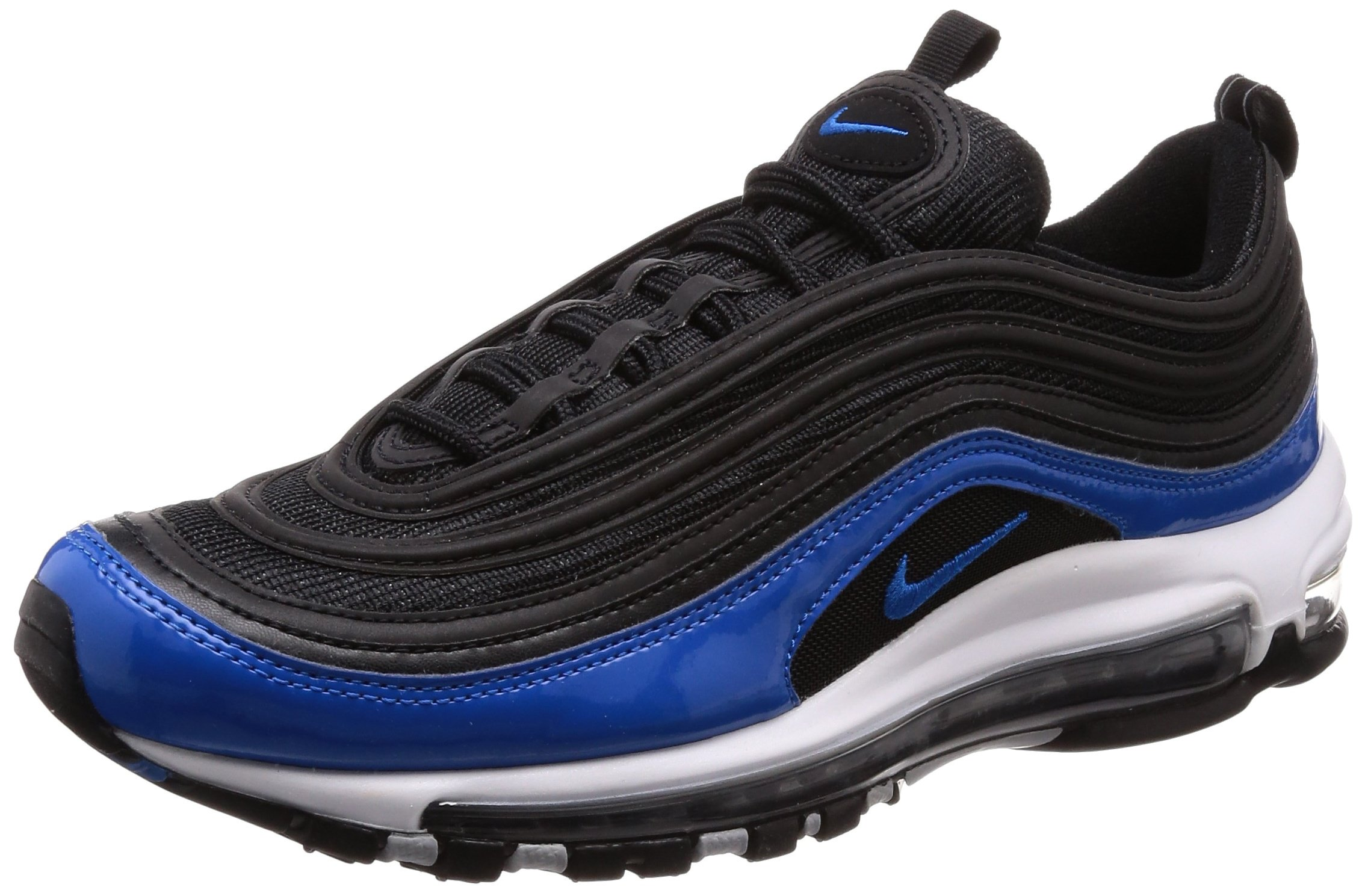 Nike Men S Air Max 97 Black Blue Nebula Wolf Grey Running Shoe 11
