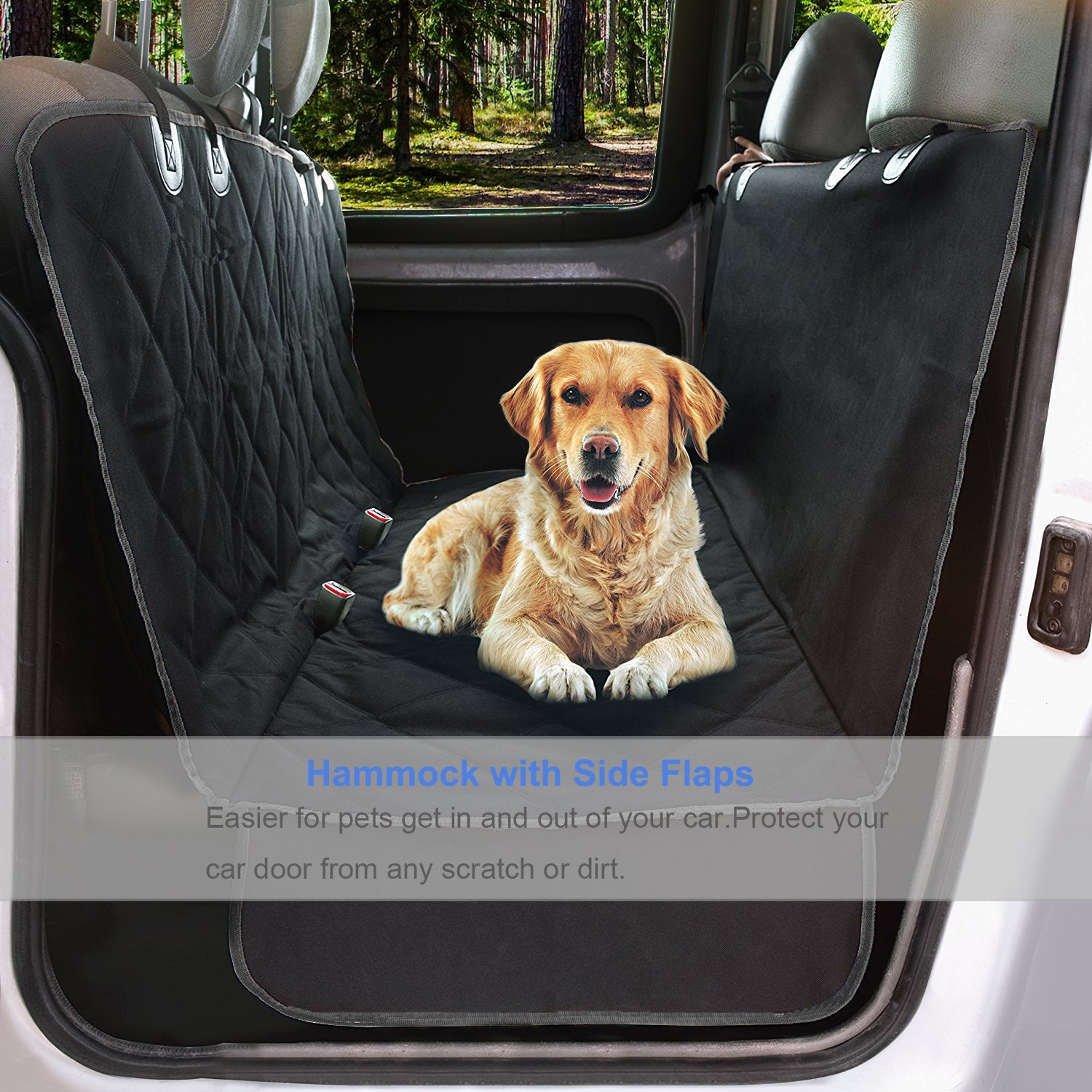 GELOO Bench Car Seat Cover Protector Waterproof, Heavy-Duty and Nonslip Pet Car Seat Cover for Dogs with Universal Size Fits for Cars, Trucks & SUVs by GELOO (Image #2)
