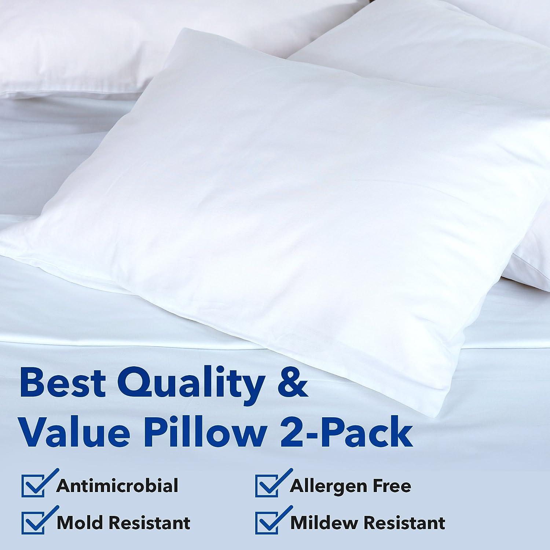 Amazon Gel Fiber Queen Pillow 2 Pack Hypoallergenic Extra