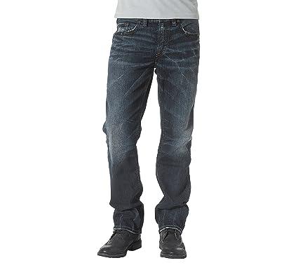 05205917 Silver Jeans Co. Men's Easy Fit Straight Leg Grayson Jeans Indigo 40x32