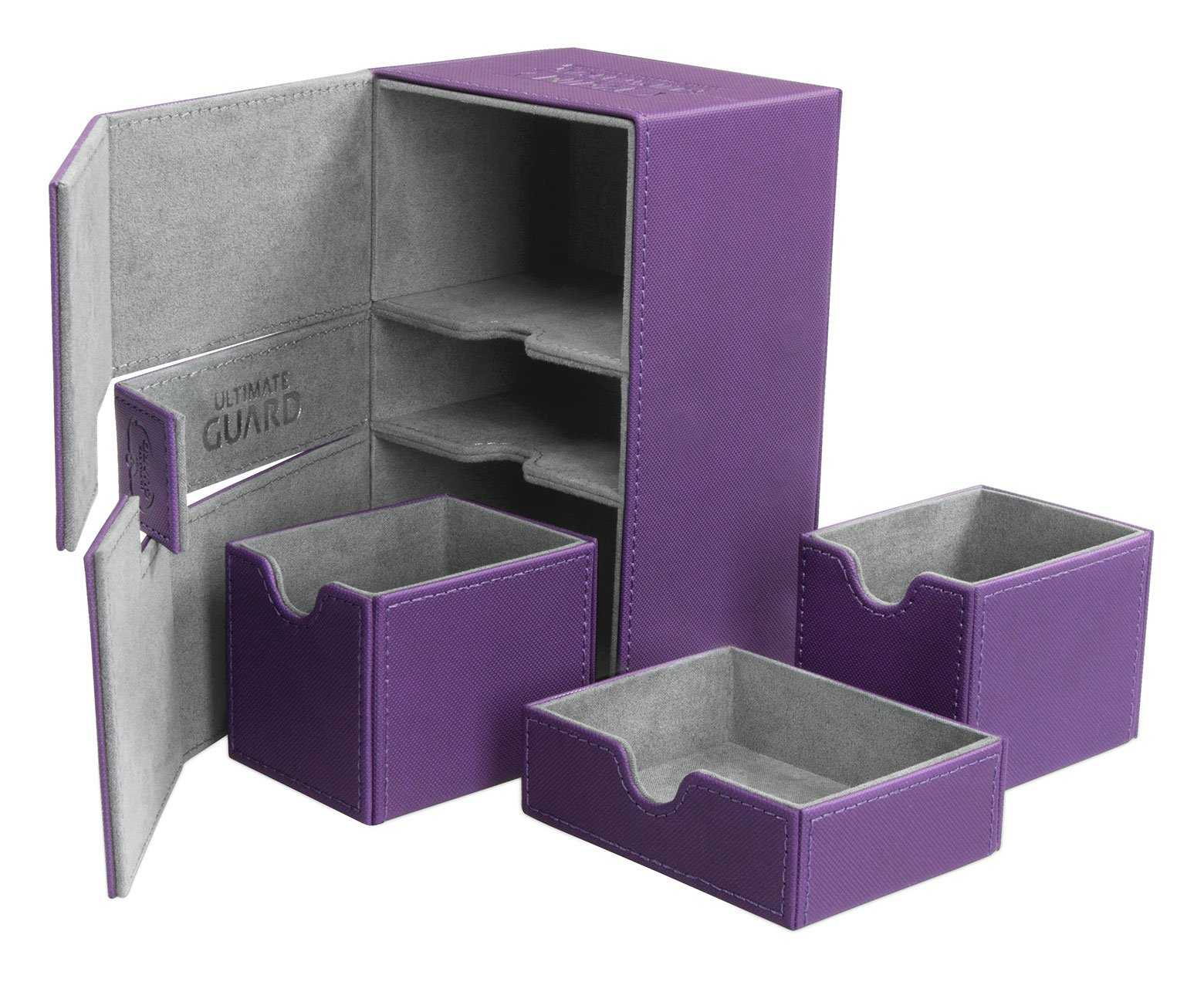Ultimate Guard Twin Flip N Tray Deck Case 160+ Standard Size XenoSkin Purple by Ultimate Guard