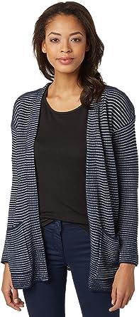 TALLA 46 (Talla del fabricante: 3X-Large). Tom Tailor Striped Long Cardigan Chaqueta para Mujer