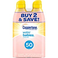 Coppertone WaterBabies Sunscreen Quick Cover Lotion Spray Broad Spectrum SPF 50...