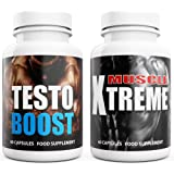 Testosterone Booster + Muscle Xtreme 120 Capsules UK Manufactured. Grow Muscle Strength Libido & Energy. Reduce recovery time boost circulation Amino Acids  Tribulus Terrestrosin D-Aspartic Acid Zinc