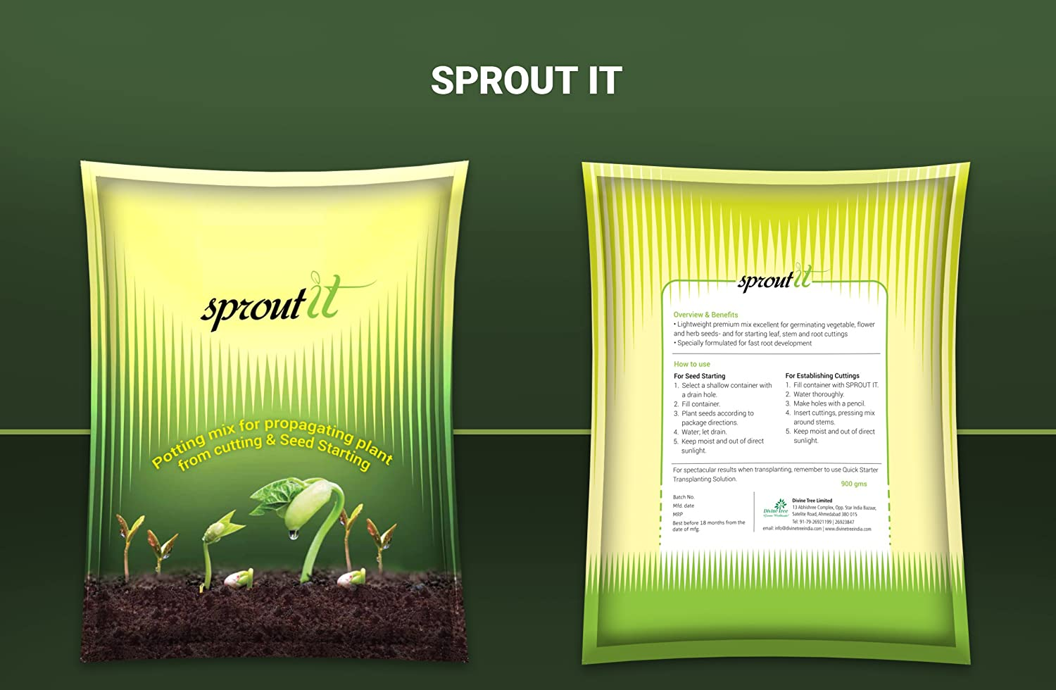 Divine Tree Sprout It Seeds Starter Soil Mix|Potting Mix for
