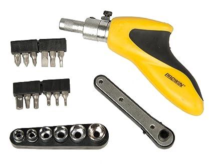 Prowin HSCT0370 - Destornillador carraca con puntas y llaves de vaso ...