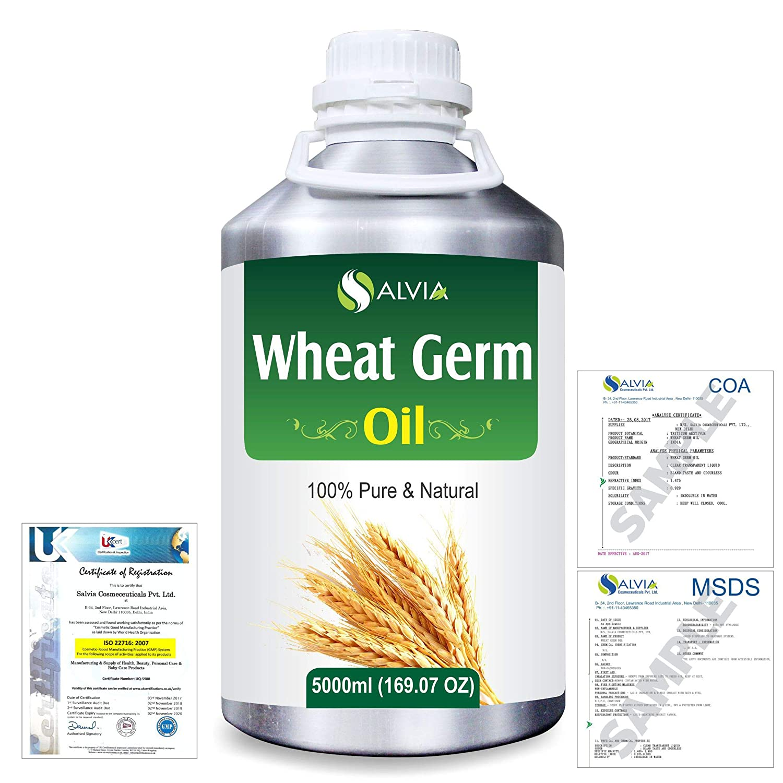 Wheat Germ (Triticum aestivum) 100% Natural Pure Essential Oil 5000ml/169fl.oz. B07R4VSCYN