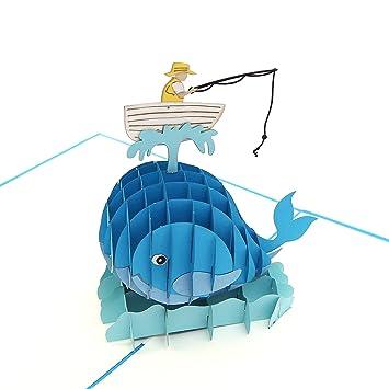 Amazon.com: liif pescador azul Pop Up Tarjeta Pop Up Tarjeta ...