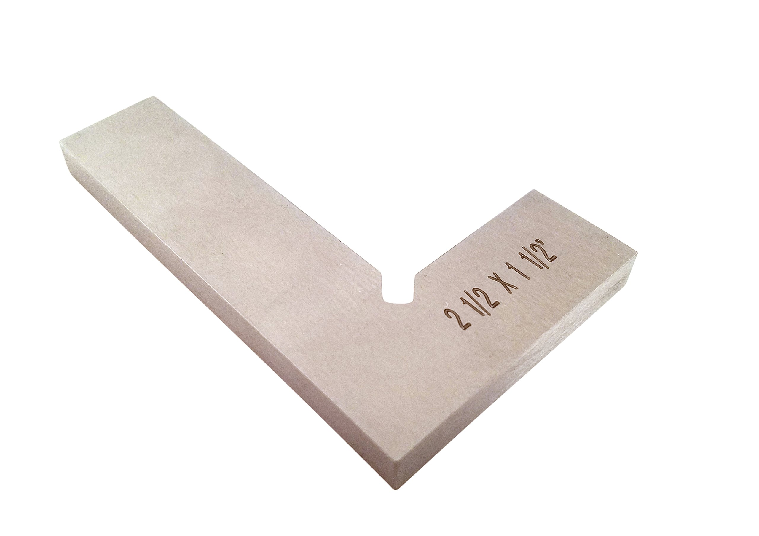 """Machinist Engineer Solid Mini Square 2 1/2"""" x 1 1/2"""" x .220"""" Thick DIN 875/0 (Square w/in - 0.0003"""") Stainless TTWSS2"""