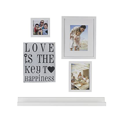 Amazon.com: MELANNCO 5-Piece Frame and Ledge Set, White: Home & Kitchen