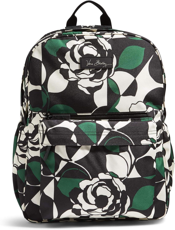 Vera Bradley Women s Lighten Up Grande Laptop Backpack, Imperial Rose, One Size