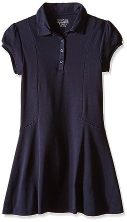 f46df669ba75 Amazon.com: Nautica Girls' School Uniform Short Sleeve Polo Dress: Clothing