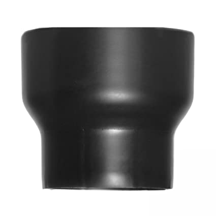 Empalme ensanchador de tubo de chimenea (120 - 130 mm), color negro: Amazon.es: Bricolaje y herramientas