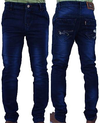 e93fc32760 Men s Denim Blue Jeans Pants Stretchable Slim Fit Stylish Branded Jeans for  Men Gents Boys