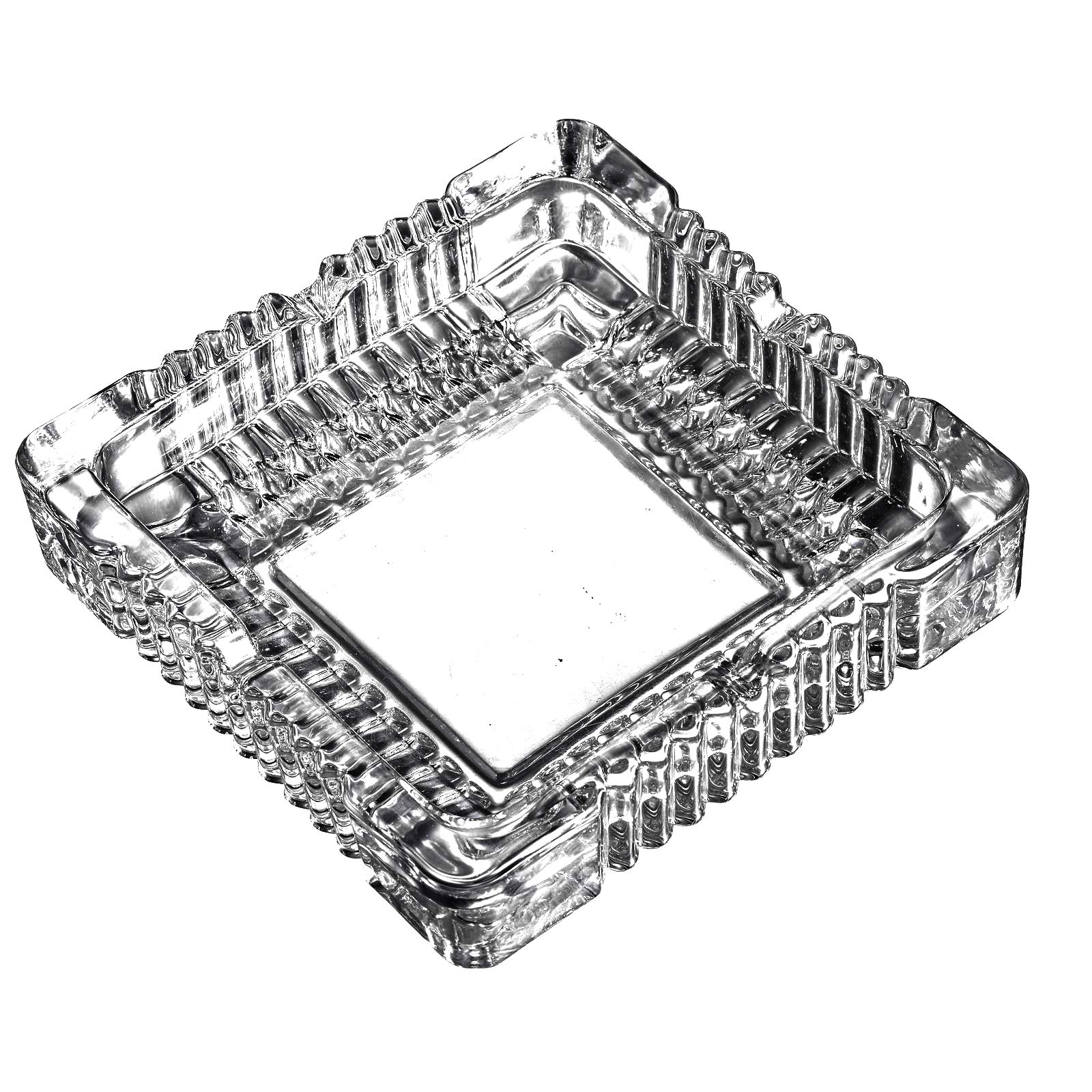 Amlong Crystal Large Classic Square Ashtray 6'' x 6'' inch.